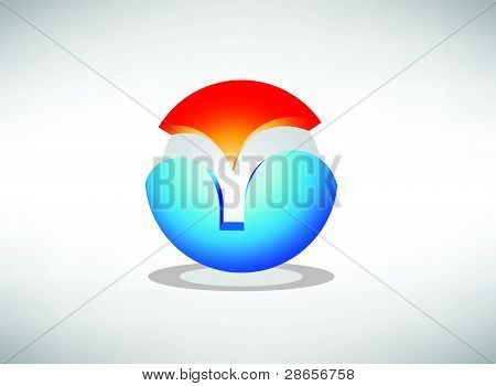 Abstract 3d vector icon