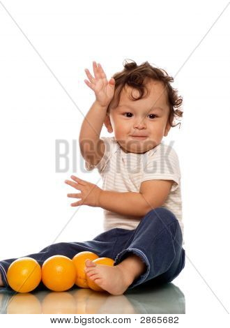 Child With Oranges.