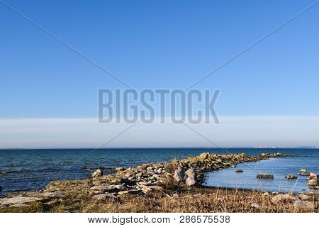 Springtime View By The Coast Of The Swedish Island Oland In The Baltic Sea