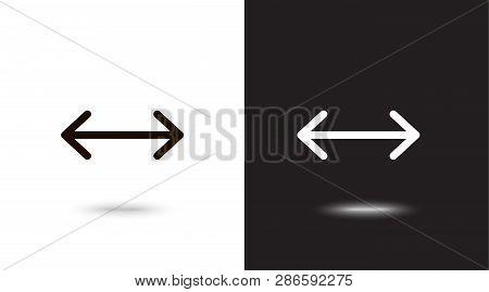 Undo Arrow Icon, Motion icon. Back arrow icon. Arrow button. on black and white background poster