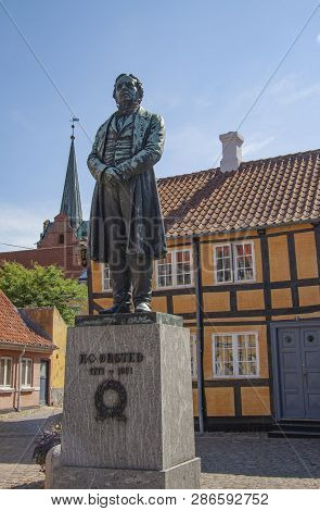 Statue Of The Danish Physicist And Chemist Hans Christian Oersted - H.c. Ørsted. He Discovered That