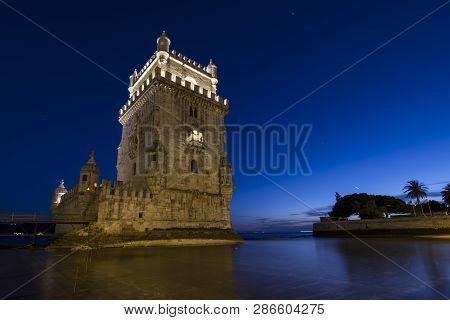 Belém Tower (torre De Belém) A Mediaeval Portuguese Fortification From The 16th Century In Lisbon Du