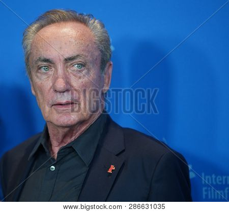 Udo Kier attends the 'La Fiera Y La Fiesta' (Holy Beasts) photocall during the 69th Berlinale International Film Festival Berlin at Grand Hyatt Hotel on February 13, 2019 in Berlin, Germany.