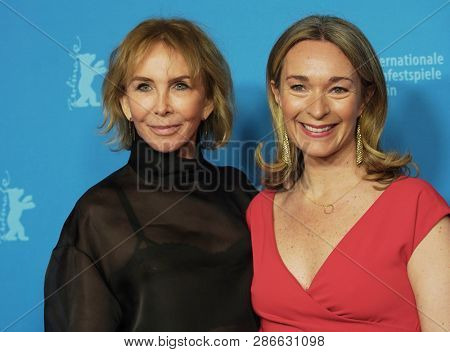Trudie Styler, Celine Rattray attend the 'Skin' photocall  during the 69th Berlinale Festival Berlin at Zoo Palast on February 11, 2019 in Berlin, Germany.