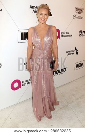LOS ANGELES - FEB 24:  Nicky Whelan at the Elton John Oscar Viewing Party on the West Hollywood Park on February 24, 2019 in West Hollywood, CA