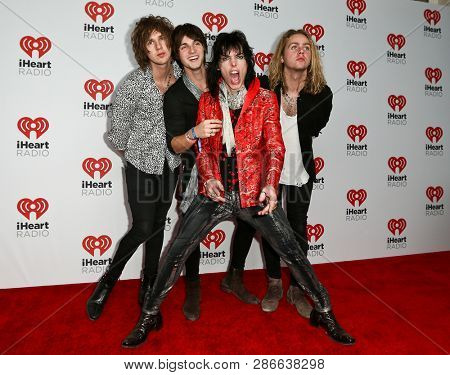LAS VEGAS-SEP 19: The Struts attend the 2015 iHeartRadio Music Festival at MGM Grand Garden Arena Night 2 on September 19, 2015 in Las Vegas, Nevada.
