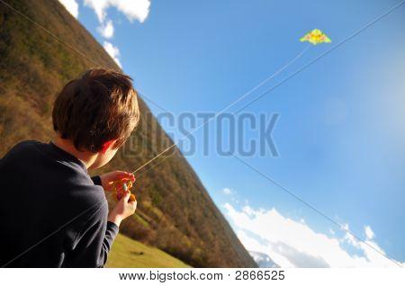 Boy And Kite