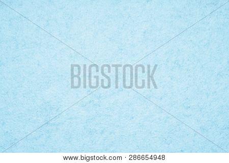 Light Blue Felt Background With Fiber Texture