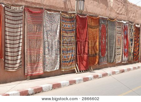 Moroccan Hanging Carpets