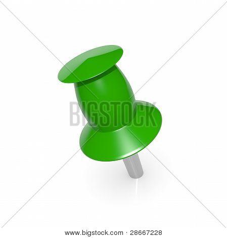 Green thumbtack