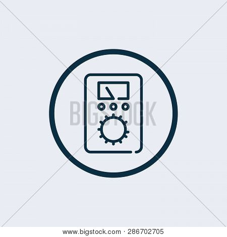 Ammeter Icon Vector On White Background, Ammeter Trendy Filled Icons From Electronics Collection, Am