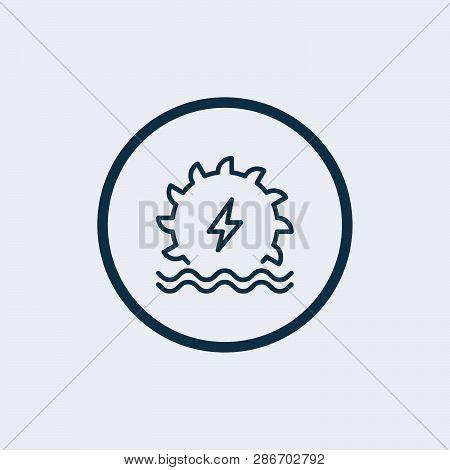 Hydro Power Icon Isolated On White Background. Hydro Power Icon Simple Sign. Hydro Power Icon Trendy