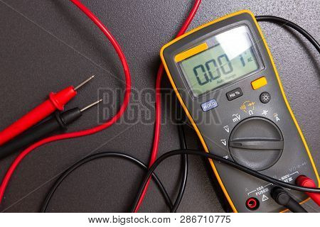 Electric Multimeter. Electrical Measure Device. Electrician Tool For Measurements