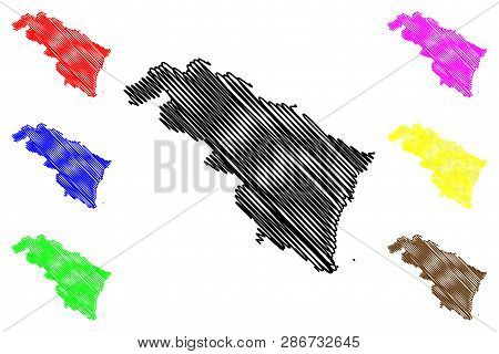 Thanh Hoa Province (socialist Republic Of Vietnam, Subdivisions Of Vietnam) Map Vector Illustration,