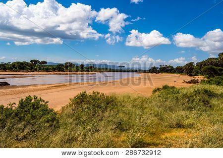 View Of The Ewaso Ng'iro River In The Savannah