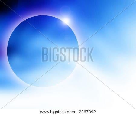 Soft Blue Solar Eclipse