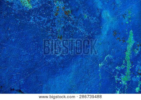 A Background Made Of Blue Azurite That Is Heavily Weathered With Lots Of Texture.