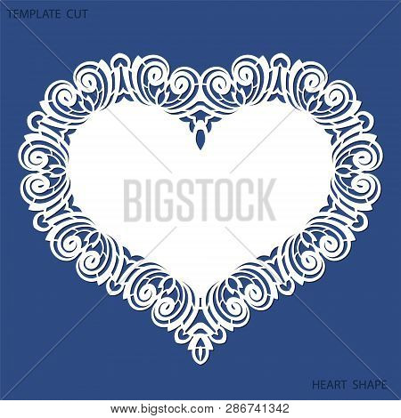 Greeting Card With Openwork Border, Paper Doily Under The Cake, Template For Cutting In The Form Of