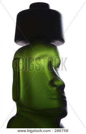 Green Pisco Bottle