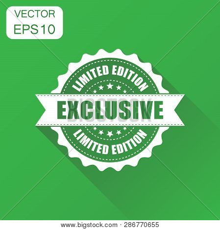 Exclusive Rubber Stamp Icon. Business Concept Exclusive Limited Edition Stamp Pictogram. Vector Illu