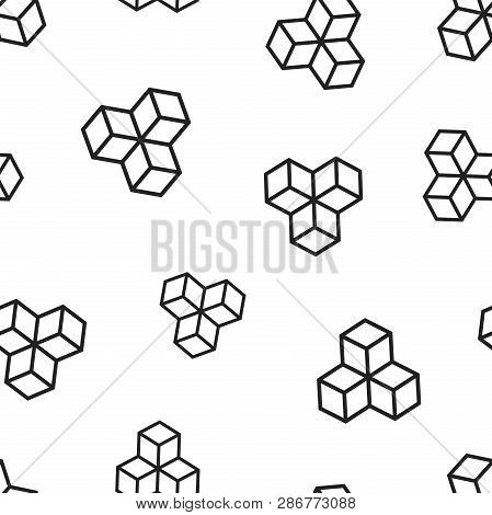 Blockchain Technology Icon Seamless Pattern Background. Business Concept Vector Illustration. Crypto