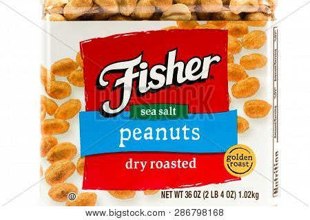 Fisher Dry Roasted Peanut Container And Trademark Logo