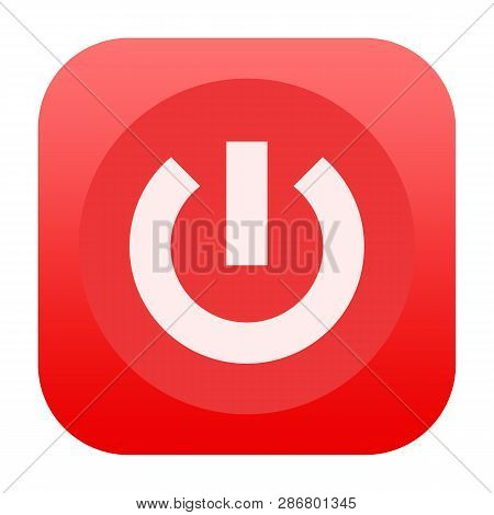 On Off Power Red Button Isolated On White Background