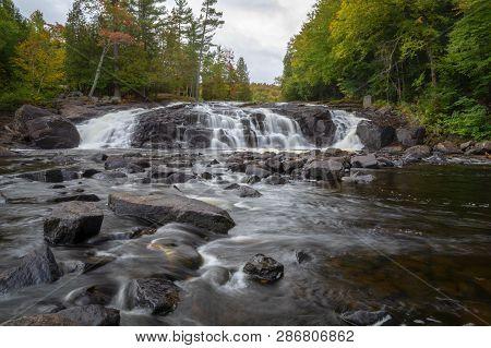Buttermilk Falls Adirondacks New York During Autumn