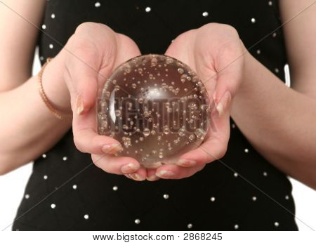 Sphere Of The Fortuneteller On A Black Background