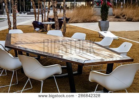 Boardroom In A Natural Environment In An Urban Setting.