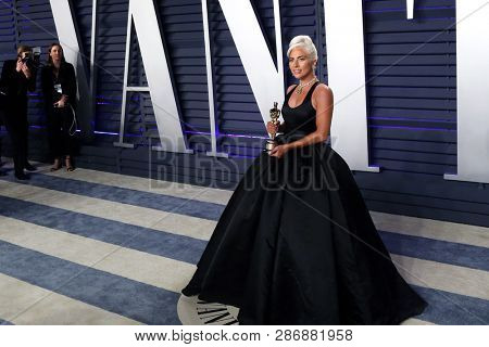 BEVERLY HILLS - FEB 24: Lady Gaga at the 2019 Vanity Fair Oscar Party at The Wallis Annenberg Center for the Performing Arts on February 24, 2019 in Beverly Hills, CA
