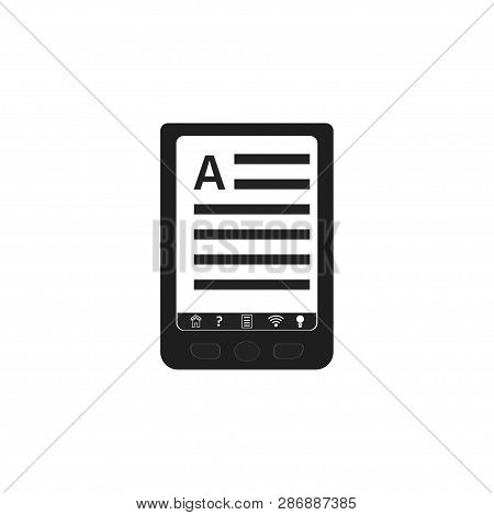 Ebook Icon Design. Ebooks Concept. Vector Illustration Ebook Isolated On White Background.