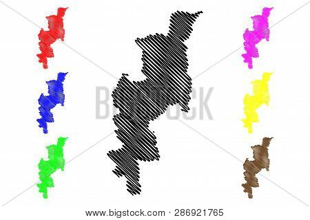 Chiang Mai Province (kingdom Of Thailand, Siam, Provinces Of Thailand) Map Vector Illustration, Scri