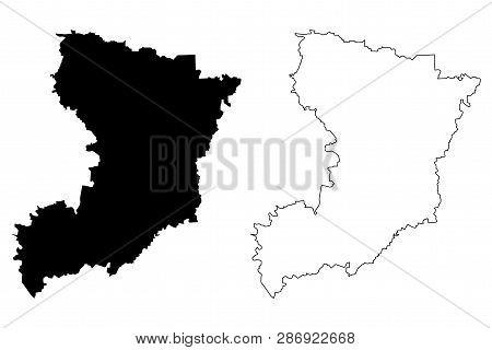 Rivne Oblast (administrative Divisions Of Ukraine, Oblasts Of Ukraine) Map Vector Illustration, Scri