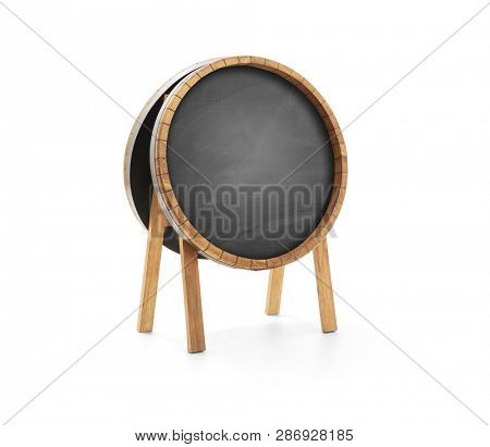 Restaurant wooden advertising sign board isolated with clipping path
