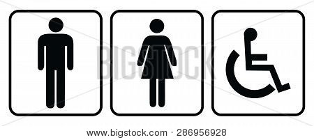 Wash Room Icon.rest Room Icon.male Washroom Icon And Female Washroom Icon In White Background Drawin