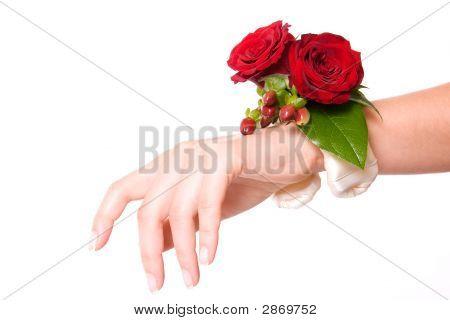 Wedding Flower Bracelet