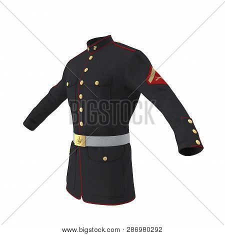 Parade Uniform Of Us Marine Corps On White Background Isolated 3d Illustration