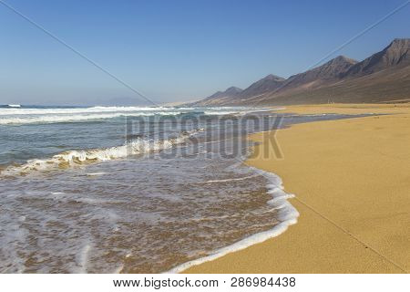 Cofete Beach, Jandia Peninsula, Fuerteventura, Canary Islands, Spain