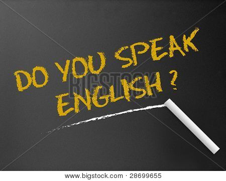 Quadro de giz - você fala Inglês?