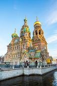 Church of Savior on the Spilled Blood. 1880s church with vibrant, lavish design - Saint Petersburg, Russia poster