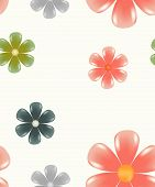 Glowing Flower Pattern Seamless Tiling Spring Illustration poster
