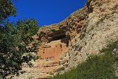 Montezuma Castle located in Camp Verde Arizona is a prehistoric cliff dwelling over 400 years old. poster