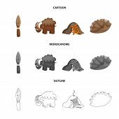 Vector illustration of evolution  and prehistory sign. Collection of evolution  and development  stock symbol for web. poster