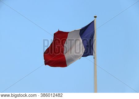 Le Tricolore Or Tri Color Of French Flag, Le Drapeau Bleu-blanc-rouge Or Blue White And Red Color Wi