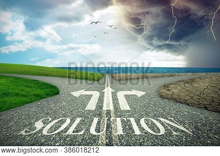 Crossroads With Two Different Roads Leading To Different Solution Paths