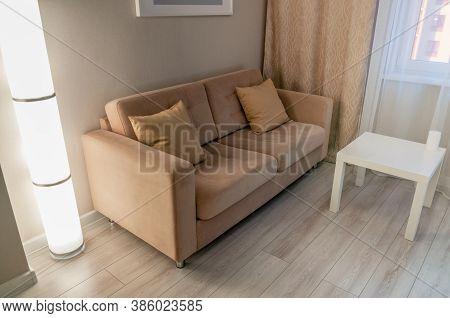 Soft Sofa In The Interior