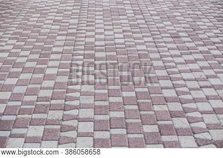 Paving Slabs Of  Rhombic Form For Background