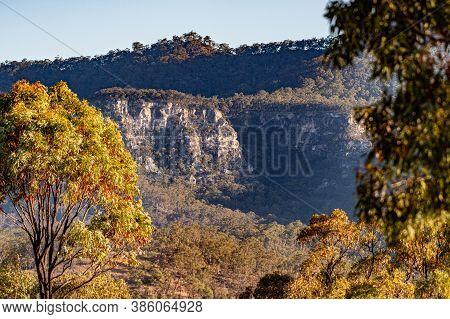 Sun Set Overlooking The Carnarvon Gorge Qld Australia.