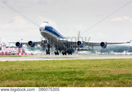 Take Off Of The Wide Body Cargo Airplane